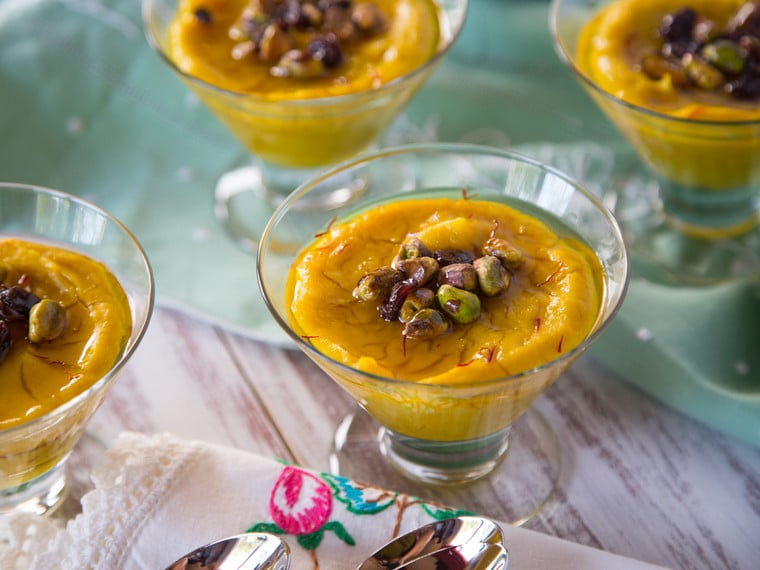persian saffron pudding