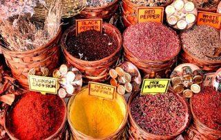 Saffron in traditional market